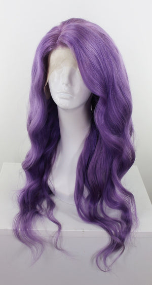 Lavender Purple Custom Dyed Human Hair Lace Front Wig