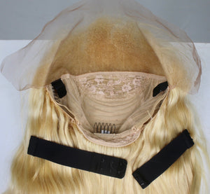 Ash Blonde Custom Human Hair Lace Front Wig