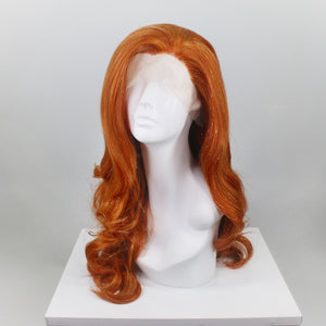 Citrine Bright Ginger Tinsel Lace Front Wig