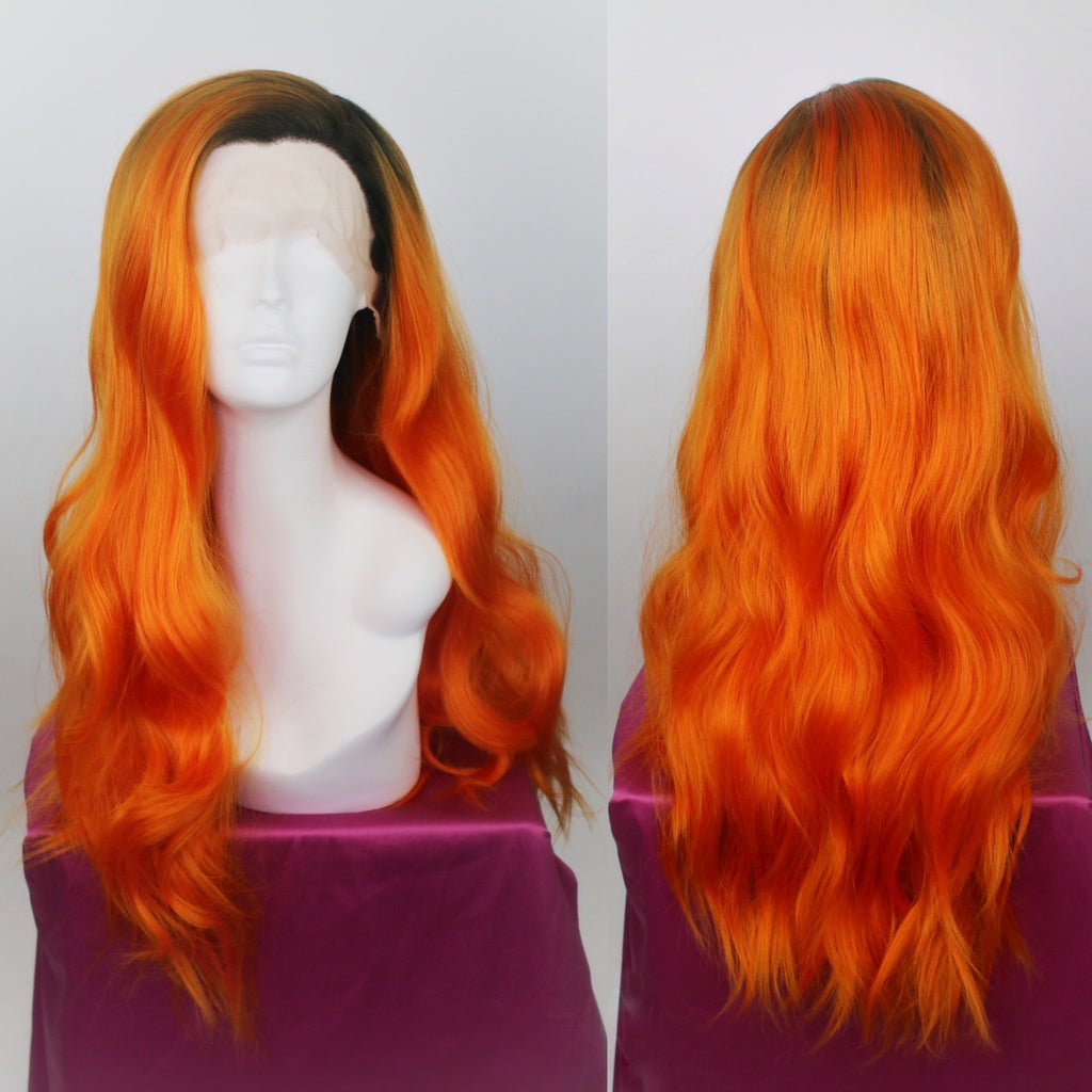 Evelyn Rooted Orange Lace Front Wig
