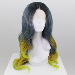 Demi Blue Yellow Ombre Lace Front Wig