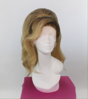 Beach Blonde Stacked Ponytail with Side Bang Custom Wig