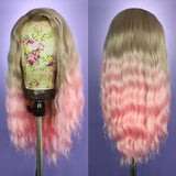 Harlow Silver Blonde to Pink Ombre Lace Front Wig