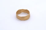 Finger Printed Gold Ring Large