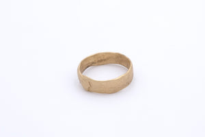 Finger Printed Gold Ring Medium