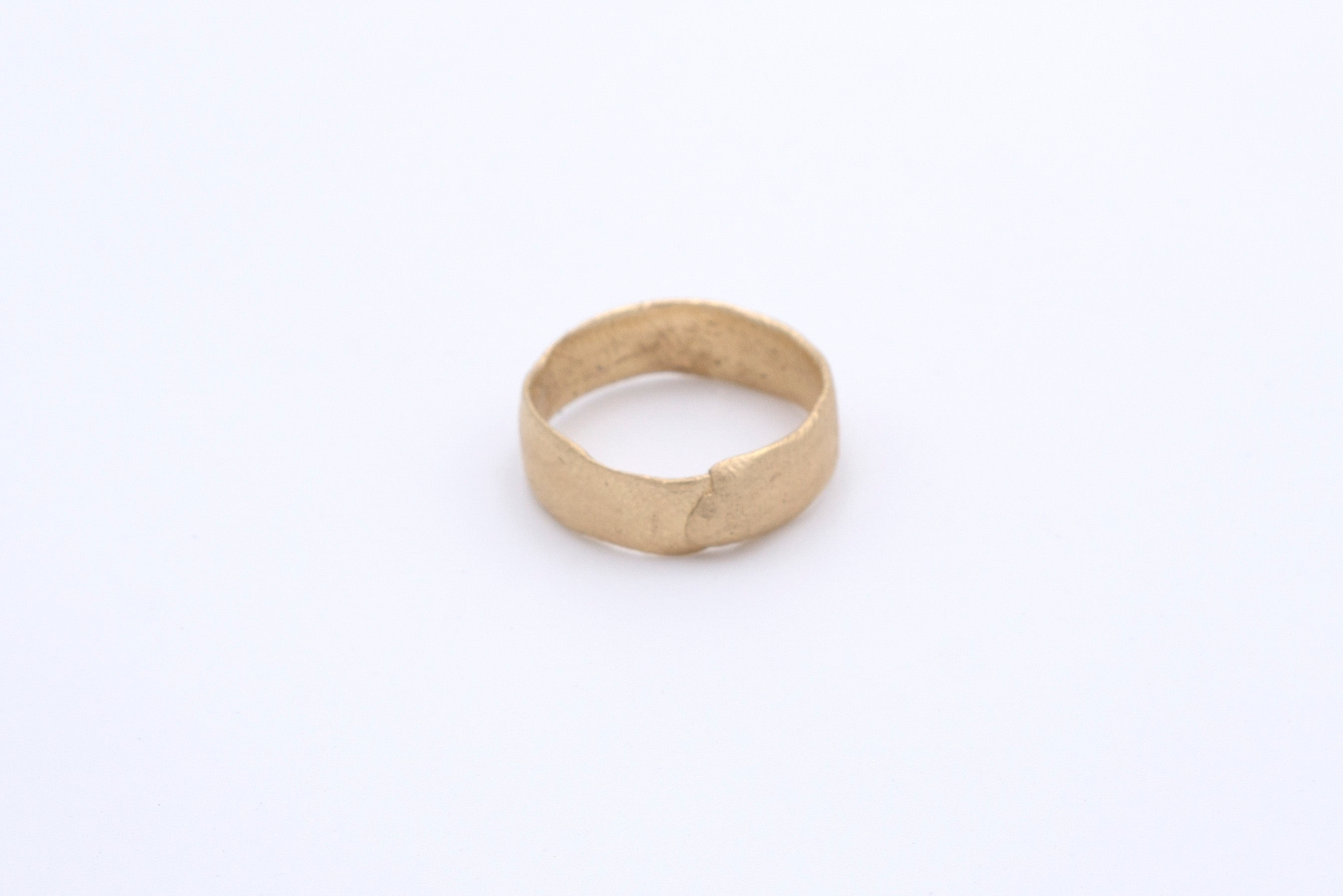 Finger Printed Gold Ring Small
