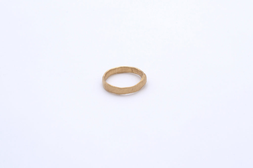 Finger Printed Gold Ring Extra Small