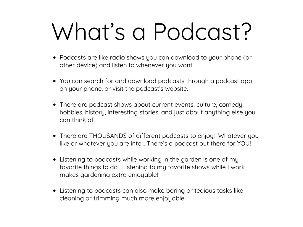 What's a Podcast?