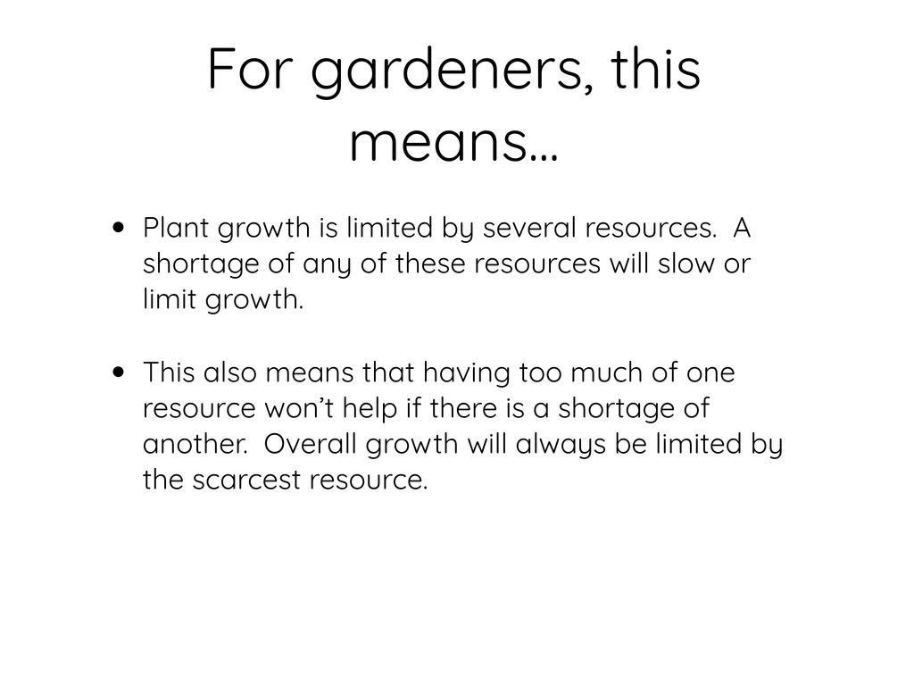 For Gardeners, This means...