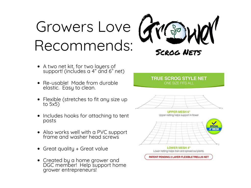 Growers Love Recomends Grower SCROG Nets