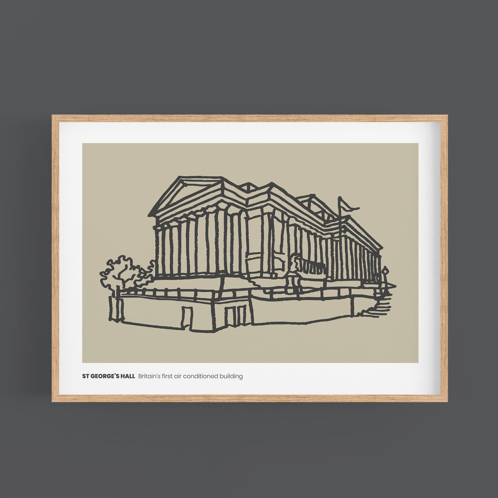 New Print - St George's Hall Liverpool