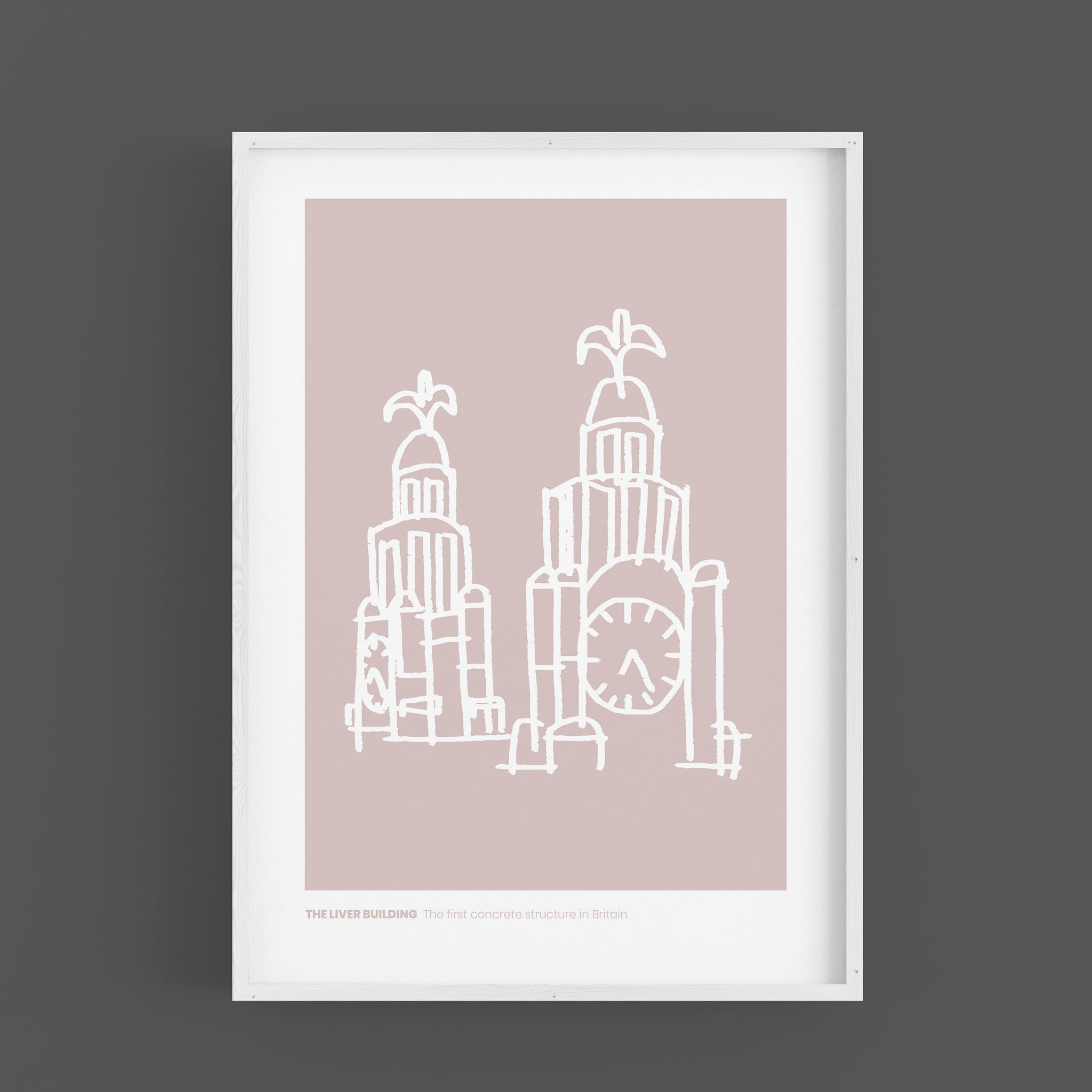 Liverpool - Liver Building White Version