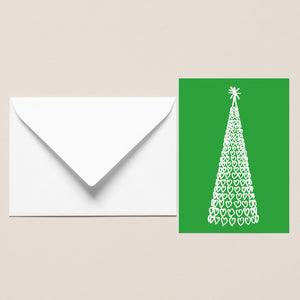 Five Pack of Christmas Cards - Liverpool One Tree Green