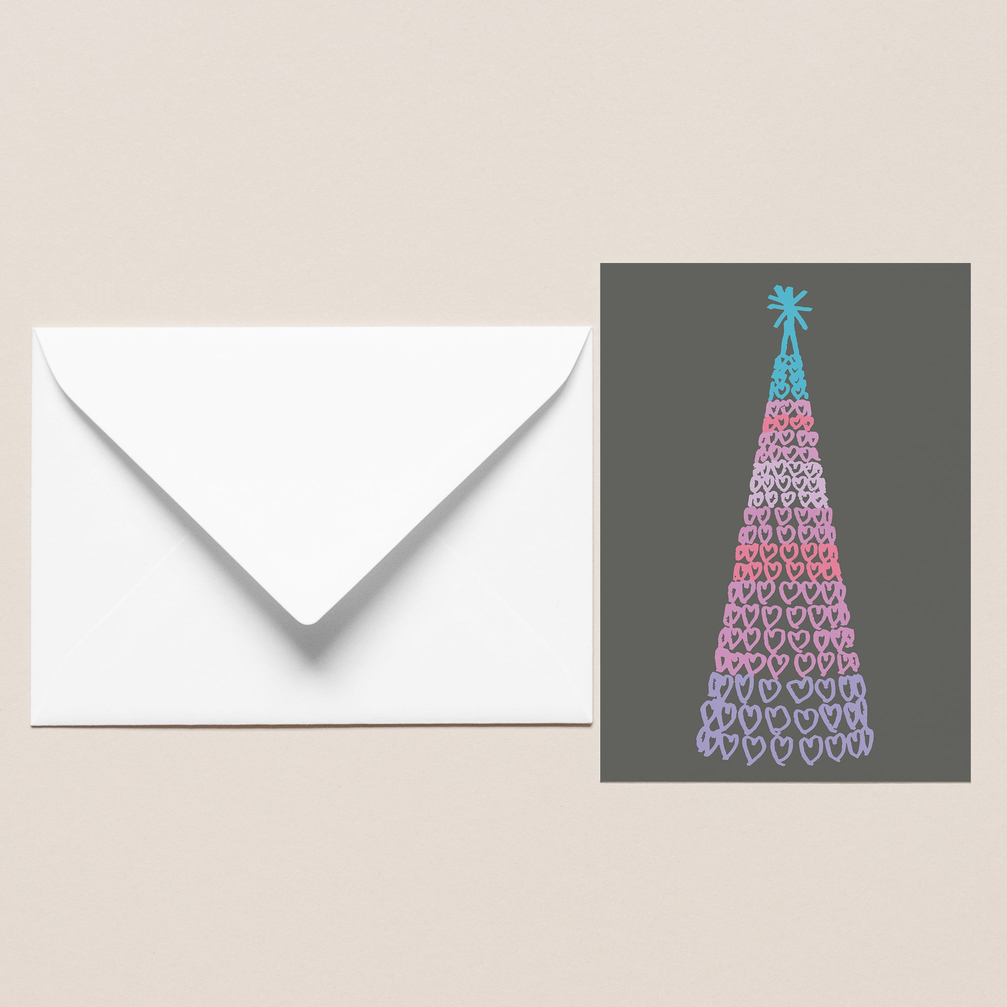 Five Pack of Christmas Cards - Liverpool One Tree Multi