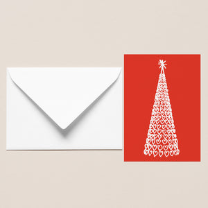 Five Pack of Christmas Cards - Liverpool One Tree Red