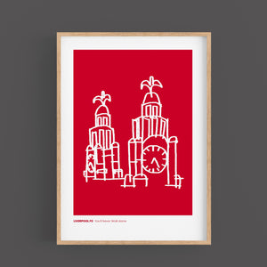 LIVERPOOL PRINT The Liver Building LFC