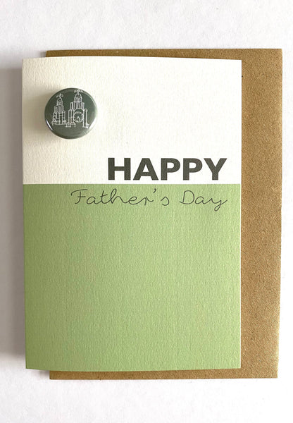 FATHER'S DAY CARD  with Liver Building Badge
