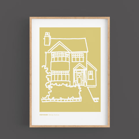 Personalised House Prints - Portrait