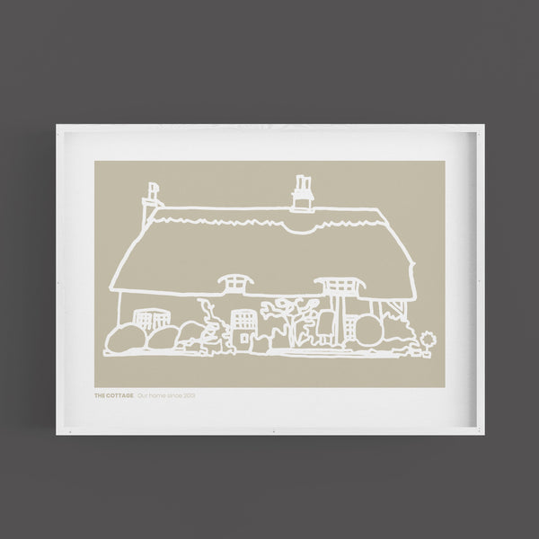 Personalised House Prints - Landscape