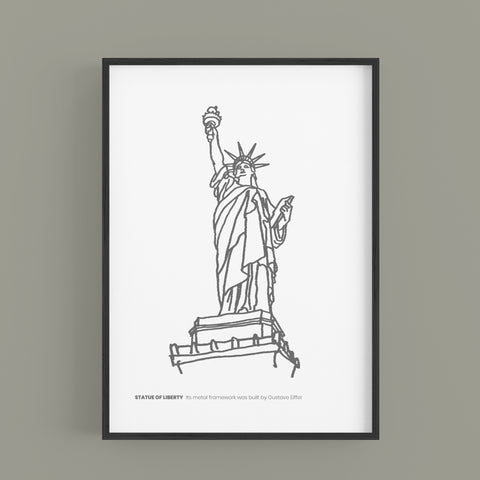 New York  - Statue of Liberty  B&W Edition