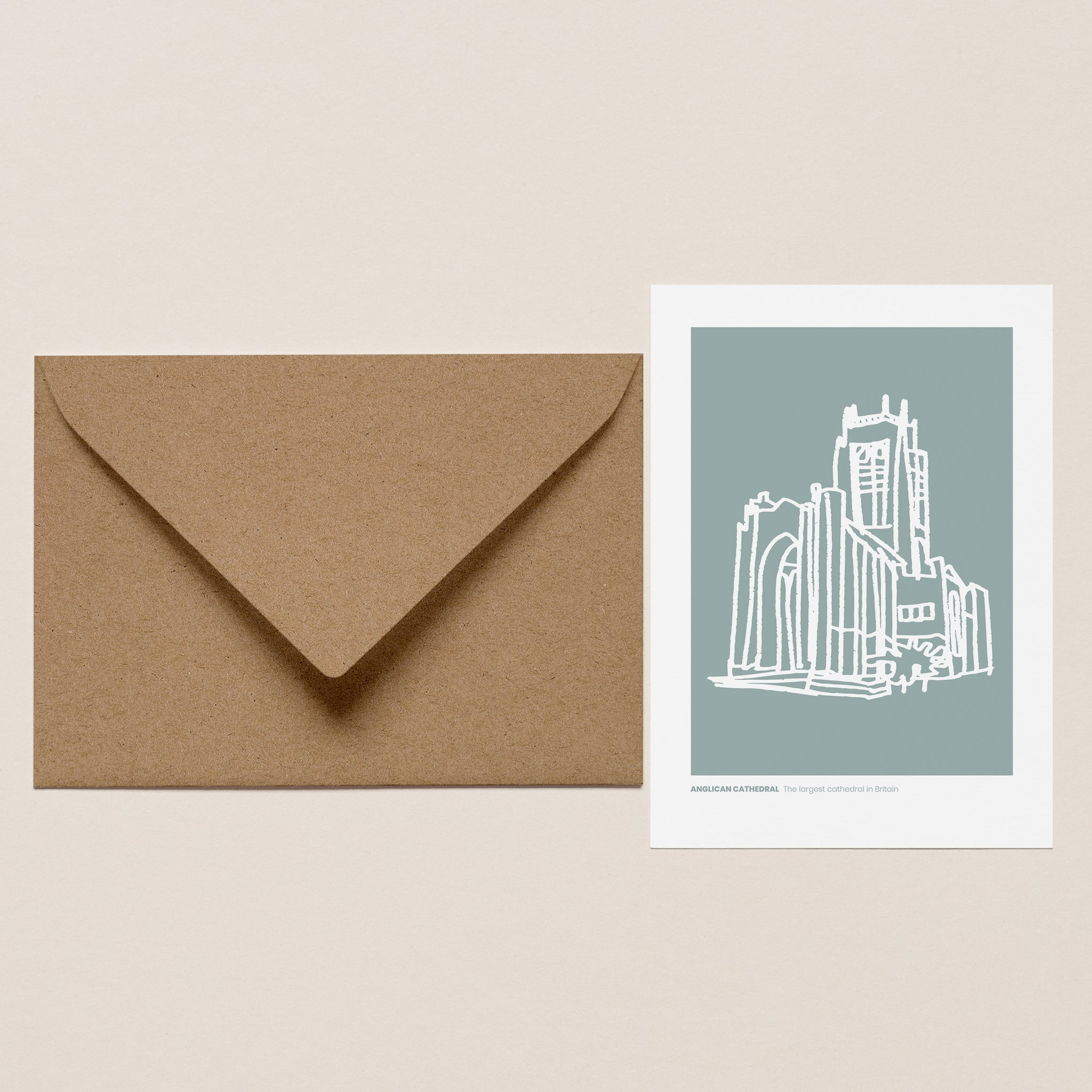 Anglican Cathedral Greeting Card