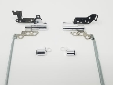 HP PAVILION 15-AU091NR HINGE SET w/CHROME HINGE CAPS - 856346-001 and 903358-001