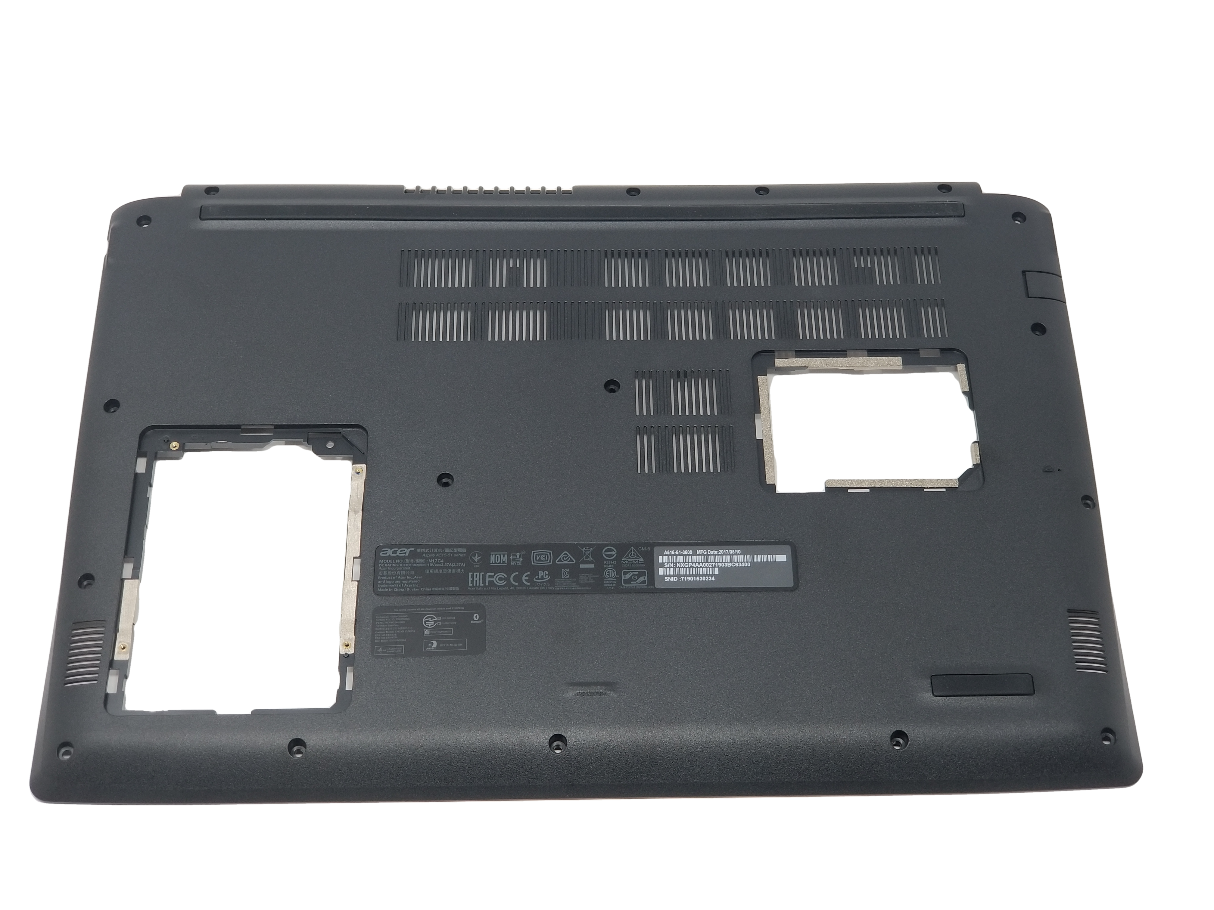 Acer Aspire 5 A515-51 Bottom Cover / Bottom Chassis - 60.GP4N2.001