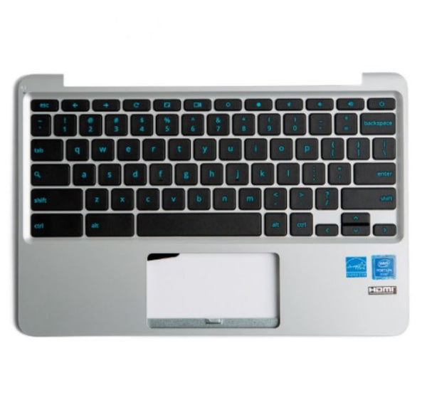 Asus Chromebook 11 C202SA Palmrest/Keyboard - 13NX00Y1AP0311 - Silver - Exact Parts