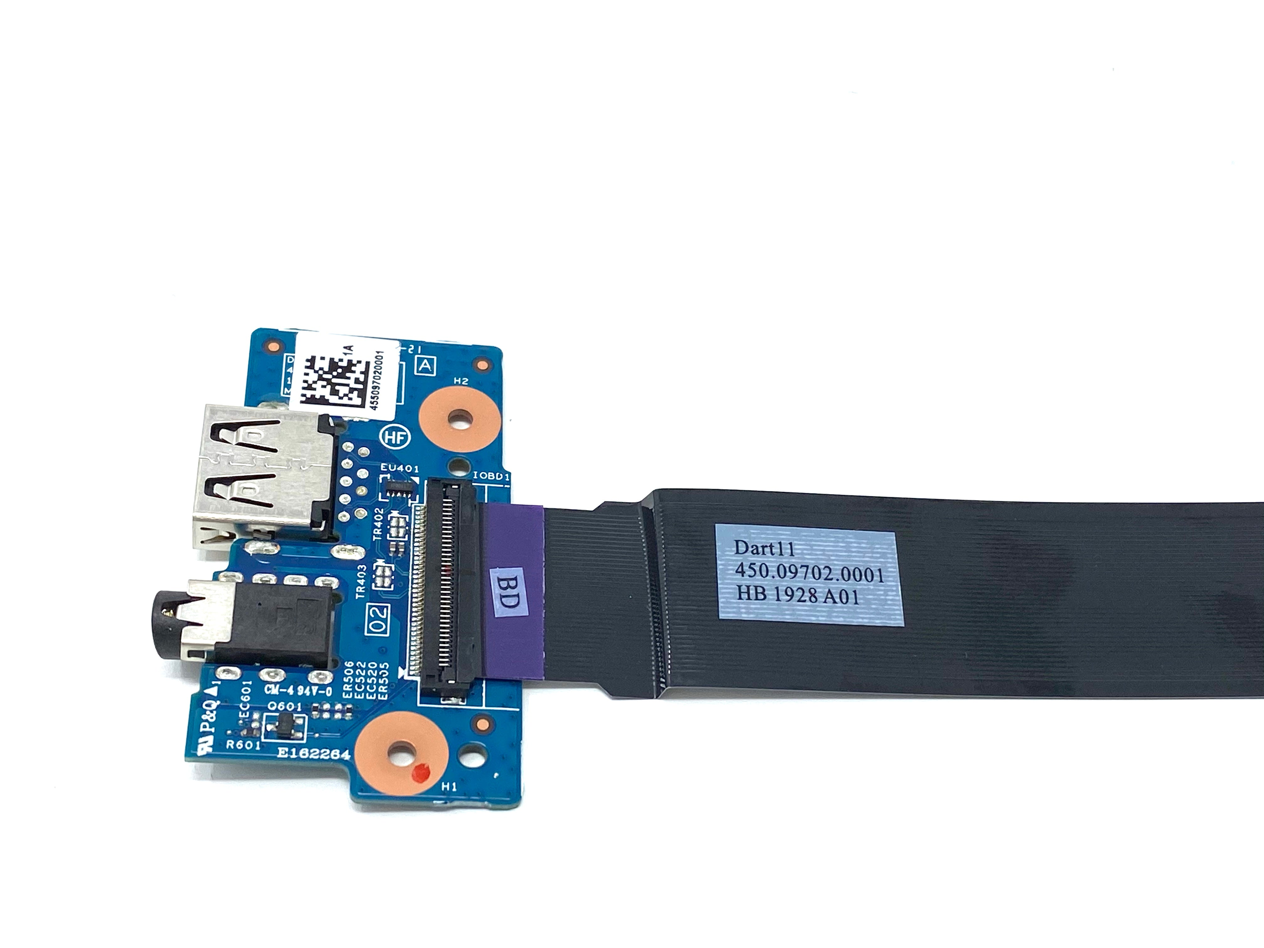 HP Chromebook 11 G5 & V-Series Audio USB Board w/Cable - 900816-001 / 448.09703.0011 / 450.09702.0001.