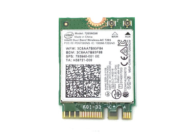 Intel Dual Band Wireless Bluetooth Card AC 7265NGW 4.0 M.2 - 793840-001 / H58721-009
