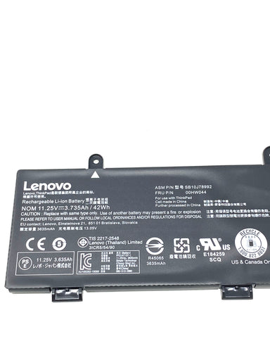 Lenovo Chromebook 11e 20GF, 20GD Battery 42Wh Li-ion - 00HW044 / 00HW043