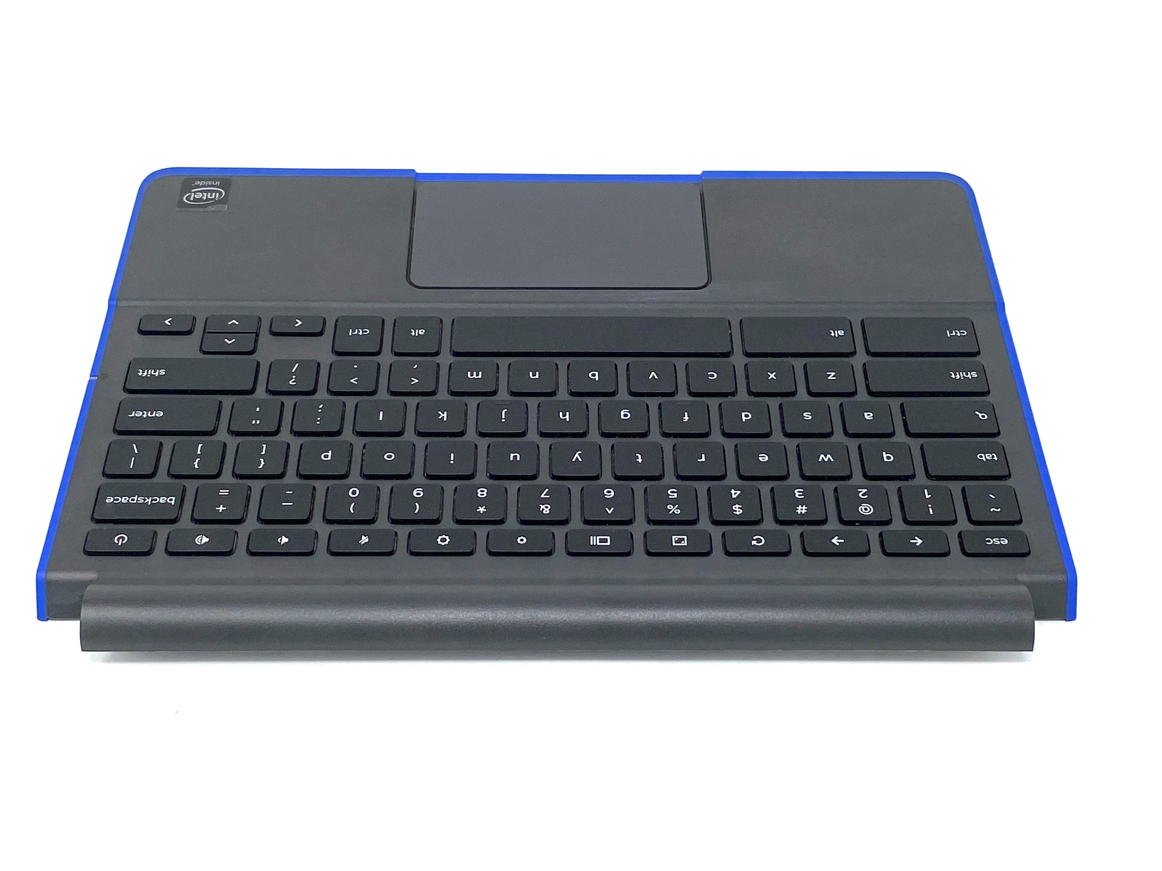 Dell Chromebook 11 3120 (P22T) Palmrest Keyboard Assembly w/Touchpad and NO SIM Slot (Blue Trim) - TCWI70 / 38ZM8TCWI70