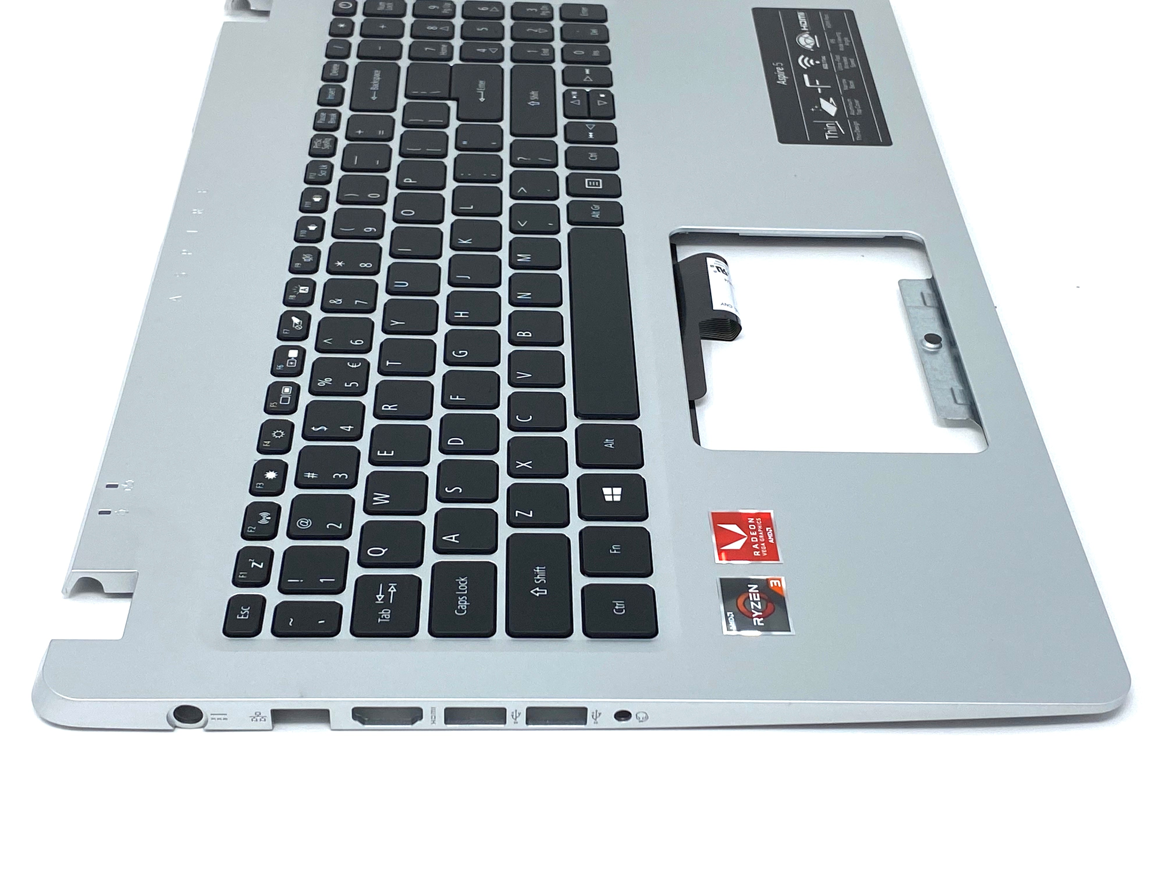 Acer Aspire 5 A515-43 Palmrest Keyboard Assembly (Silver) - 6B.HG8N2.001