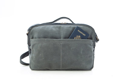 Our William Ross weatherproof crossover travel bag has two back pockets that have hidden zippers to hold your passport while waiting in line at the airport. No more holding your passport for two hours while carrying a back pack on your back.