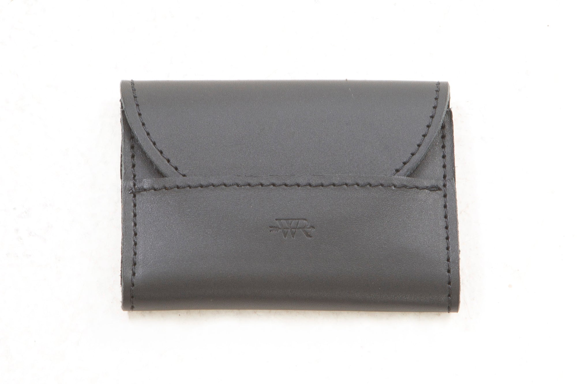 Simple Flap Closure Leather Wallet