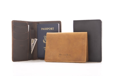 World Traveler Leather Passport Wallet