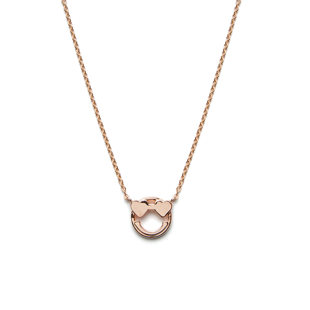 14k gold heart emoji Necklace - LODAGOLD