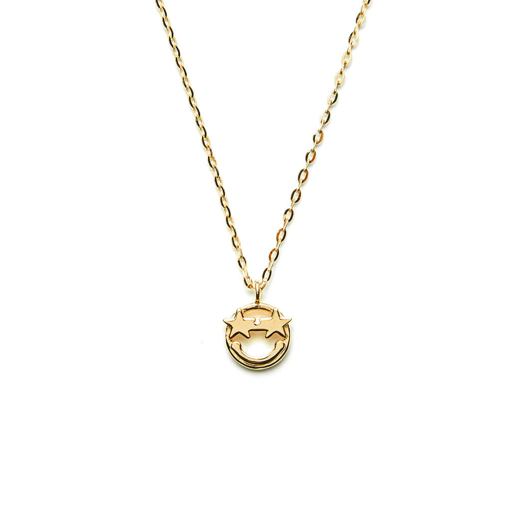 14k gold star Emoji Necklace - LODAGOLD