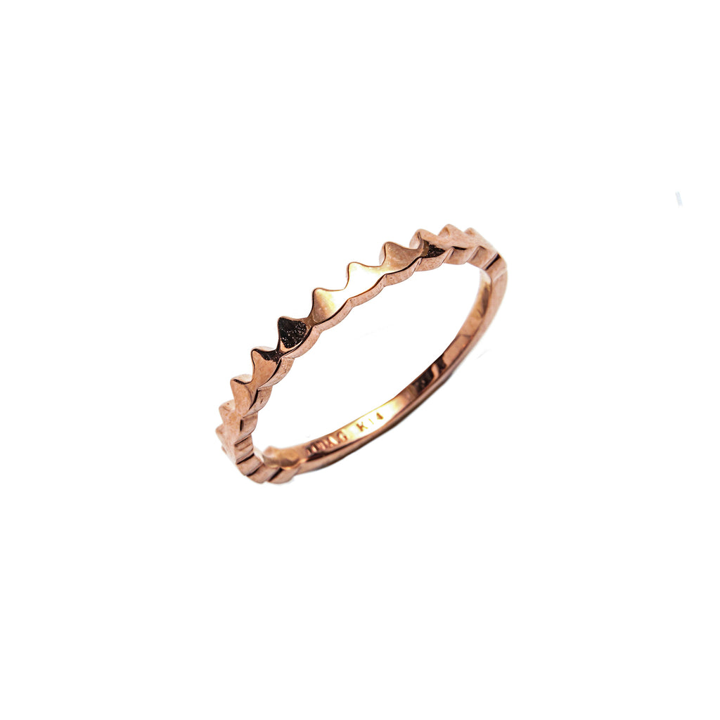 14k gold crown ring - LODAGOLD