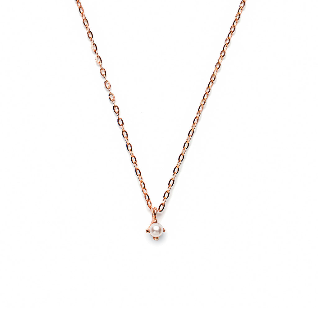 14k gold pearl necklace - LODAGOLD