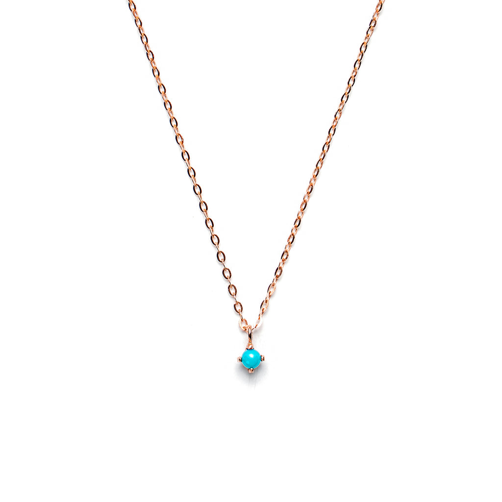 14k gold Turquoise necklace - LODAGOLD
