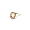 "14k gold ""O""diamond single earring - LODAGOLD"