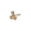 14k gold diamond Heart single stud Earring - LODAGOLD