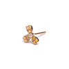14k gold dia heart single stud Earring - LODAGOLD