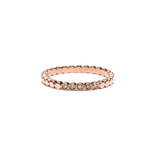 14k gold cognac diamonds bubble ring - LODAGOLD