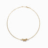 14k gold cognac diamond ribbon bracelet - LODAGOLD