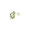14k gold pear cut green sapphire single earring - LODAGOLD