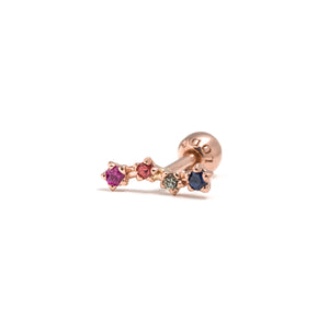 14k gold sapphires constellation piercing - LODAGOLD