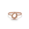 14k gold diamond water drop ring - LODAGOLD