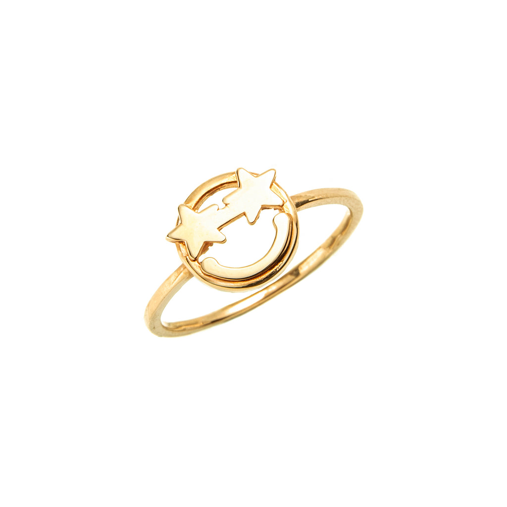 14k gold emoji Star Ring - LODAGOLD